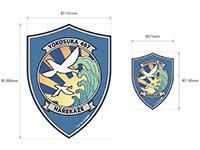 ハイスクール・フリート 陽炎型航洋直接教育艦晴風 艦船章マグネットシート大小セット