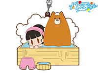 くまみこ【バスでふぉ】ナツ&まちinひのき風呂ラバーストラップ