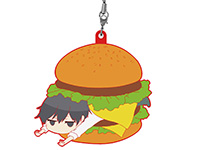 田中くんは、いつもけだるげ【きゃらいど】田中くんonハンバーガーラバーストラップ