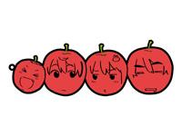 月杜中学美術部員仲良しリンゴラバーストラップ
