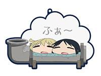 少女終末旅行【バスでふぉ】チトとユーリinパイプ風呂ラバーストラップ