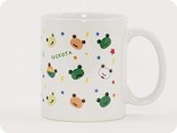 8種類のゲコ太が散りばめられたゲコ太好きにはたまらないデザインのマグカップ