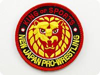 新日本プロレスリング ライオンマークベルクロワッペン(カラーロゴ)