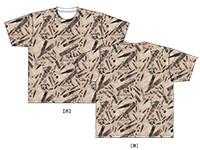 SAO オルタナティブ ガンゲイル・オンライン GGO銃弾迷彩フルグラフィックTシャツ