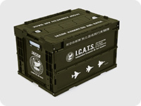 ガーリー・エアフォース I.C.A.T.S.部隊折りたたみコンテナ