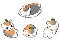 夏目友人帳 ニャンコ先生ワッペン(着脱式)4種